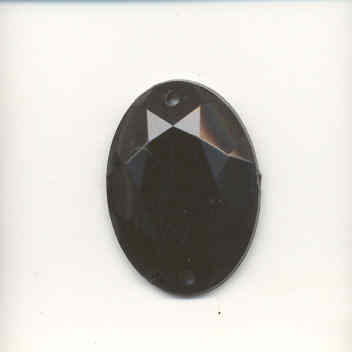 Oval sew-on acrylic stones - 18x25mm