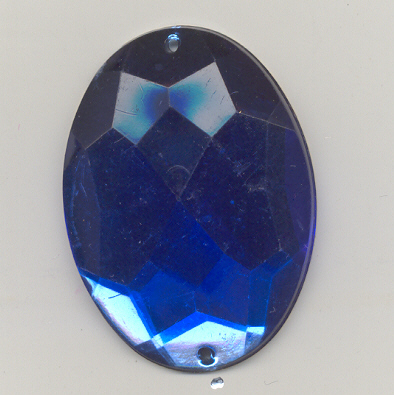 Oval sew-on acrylic stones - 31x42mm