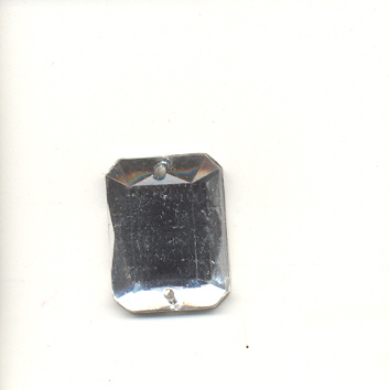 Rectangular sew-on acrylic stones - 12x16mm