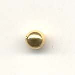 Round Metal Spacer, 5mm Gold coloured