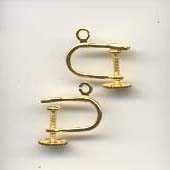 Screw earclip gold plated