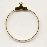 Gold plated hanging hoops