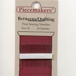 Piecemakers Quilting needles size 10