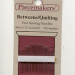 Piecemakers Quilting needles size 8/12
