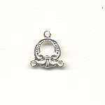 2 row necklace spacer silver