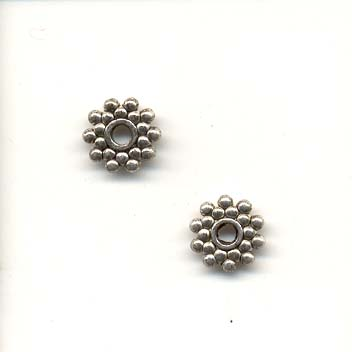 Antique spacer bead - Silver coloured