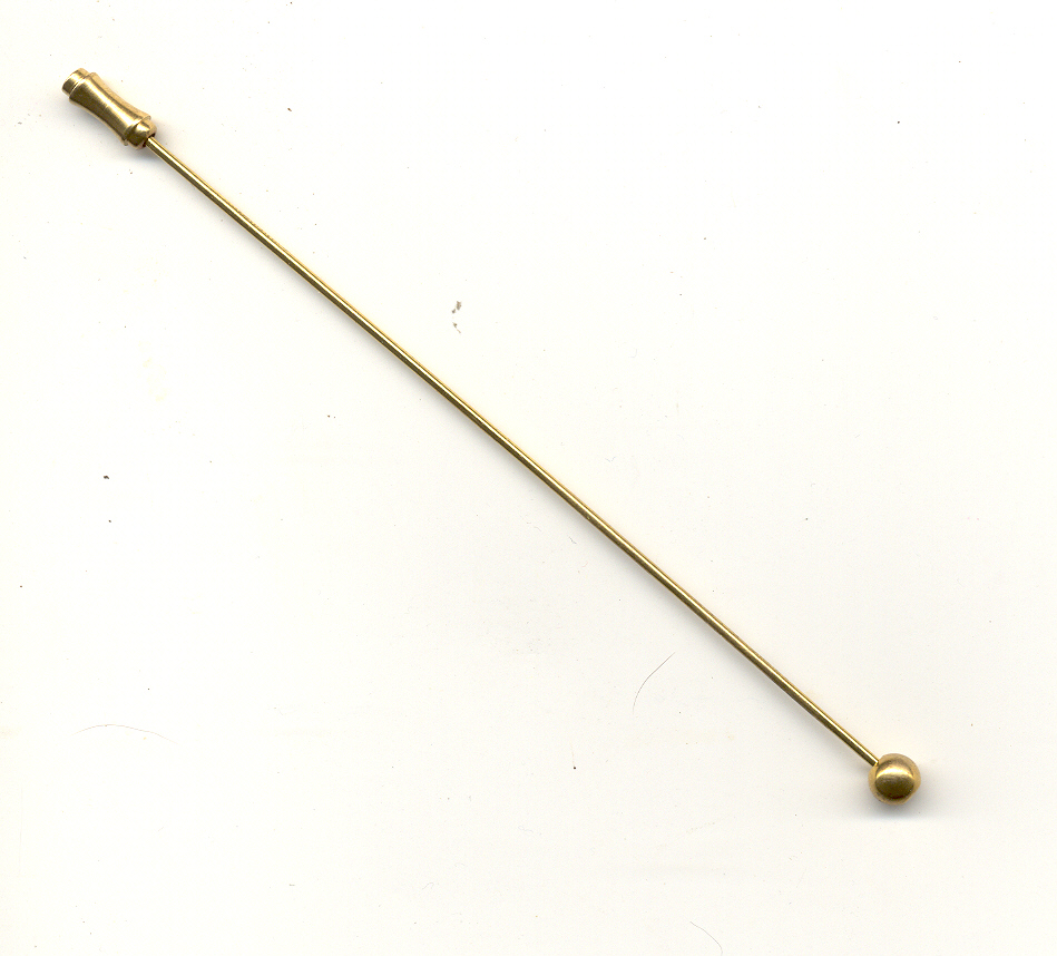 Hat pin - 125mm - Gold