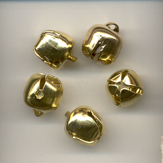 Jingle bell, 9mm, gold coloured