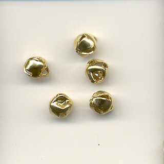 Jingle bell, 6mm, gold coloured