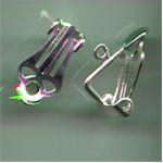 Earring clips silver plated