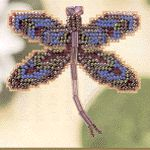 Royal Mauve Dragonfly Pin