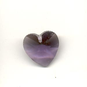 Crystal Heart, 14mm, Amethyst