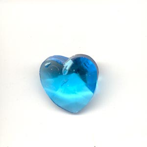 Crystal Heart, 14mm, Sky Blue