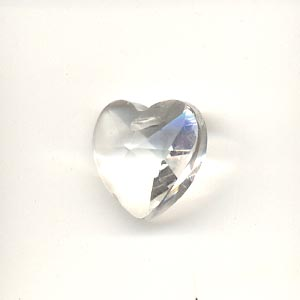 Crystal Heart, 14mm, Crystal
