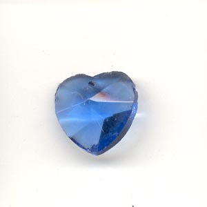 Crystal Heart, 14mm, Royal