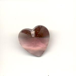 Crystal Heart, 14mm, Lilac