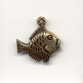 Fish charms - Antique Gold