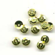 Sequins, Faceted 5mm, Gold