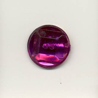 Acrylic jewel button - 16mm round, amethyst