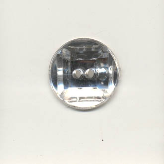 Acrylic jewel button - 16mm round, crystal